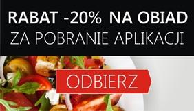 -20% na dania obiadowe za pobranie aplikacji EYM